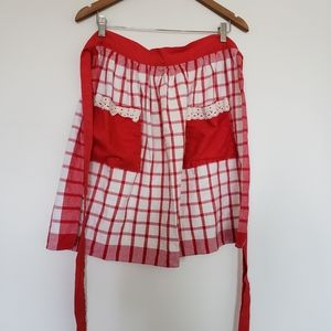 3 for $30❤Handmade vintage cotton apron red